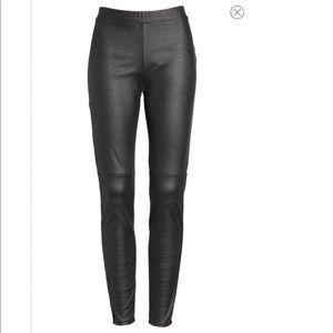 Trouve Faux Leather Black Leggings